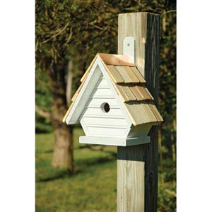 Chick Whitewashed Birdhouse