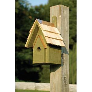 Classic Chapel Pinion Green Birdhouse