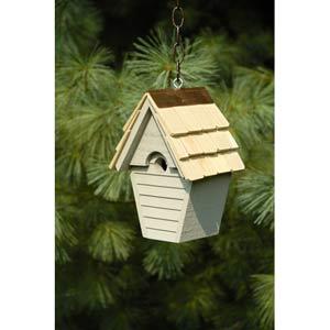 Wren-in-the-wind Smoke Grey Birdhouse