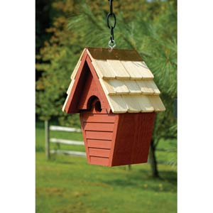 Wren-in-the-wind Redwood Birdhouse