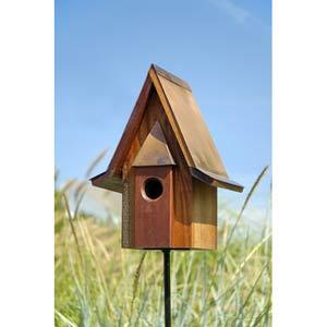 Mahogany Chateau Solid Mahogany Wood Birdhouse