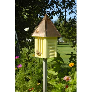 Flutterbye Yellow With Solid Copper Roof Butterfly House