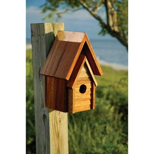 Wrental House Mahogany Birdhouse