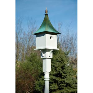 Valerie Ann White With Verdi Copper Roof Birdhouse