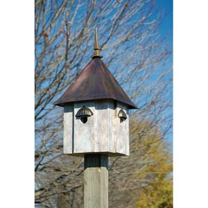 Avian Meadows Old World Finish With Copper Roof Birdhouse