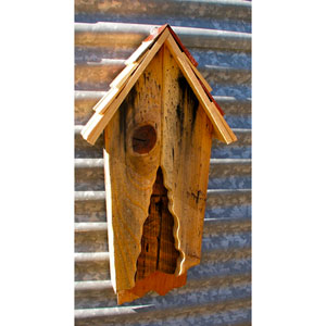 Vintage Bat House in Antique Cypress w/ Multi-Colored Shingled Roof