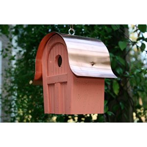 Twitter Junction Salmon Birdhouse with Copper Roof
