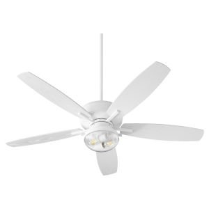 Breeze Patio Studio White Two-Light Outdoor Fan