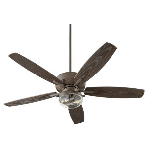 Breeze Patio Oiled Bronze Two-Light Outdoor Fan