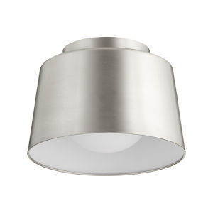 Satin Nickel 11-Inch One-Light Trapeze Flush Mount
