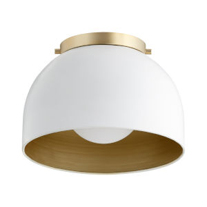 Studio White One-Light 11-Inch Dome Flush Mount