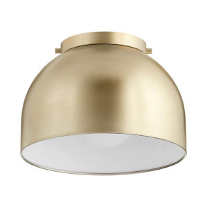 Aged Brass 11-Inch One-Light Flush Mount