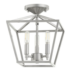 Gabriel Classic Nickel Three-Light Semi-Flush Mount