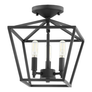 Gabriel Noir Three-Light Dual Mount Pendant