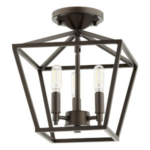 Gabriel Oil Bronze Three-Light Dual Mount Pendant