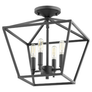 Gabriel Noir Four-Light Dual Mount Pendant