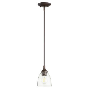 Enclave Oiled Bronze with Clear Six-Inch One-Light Mini Pendant
