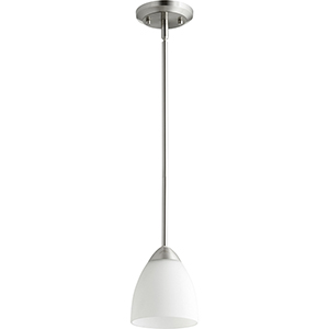 Barkley Satin Nickel One-Light Mini Pendant