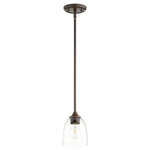 Jardin Oiled Bronze with Clear Six-Inch One-Light Mini Pendant