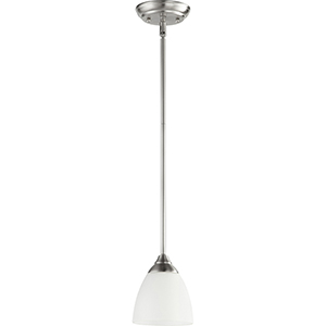 Flora Satin Nickel One-Light Mini Pendant