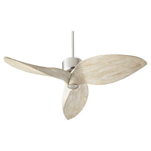 Hawkeye Satin Nickel 52-Inch Ceiling Fan