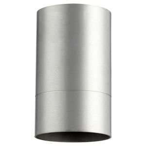 Cylinder Brushed Aluminum One-Light Flush Mount