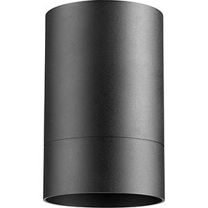Cylinder Black One-Light Ceiling Mount