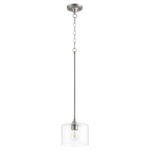 Dakota Satin Nickel One-Light Mini Pendant