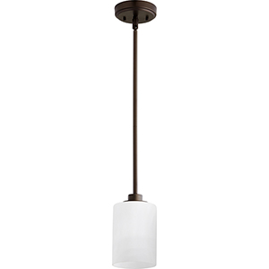 Lancaster Oiled Bronze One-Light Mini Pendant