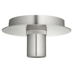 Satin Nickel Six-Inch One-Light Flush Mount