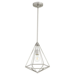 Bennett Satin Nickel 11-Inch One-Light Pendant