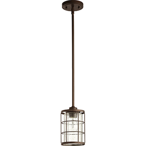 Ellis Oiled Bronze One-Light Mini Pendant