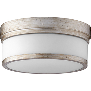 Celeste Aged Silver Leaf Two-Light Ceiling Mount