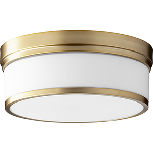 Celeste Aged Brass Three-Light Ceiling Mount