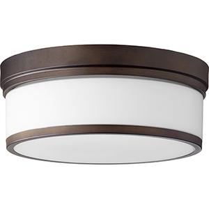 Celeste Oiled Bronze Three-Light Ceiling Mount
