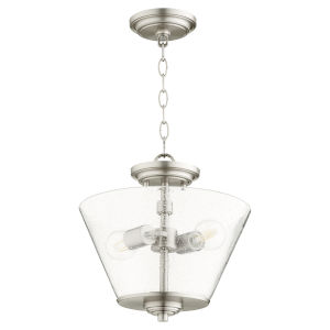 Dunbar Satin Nickel Two-Light Dual Mount Pendant