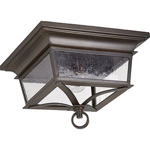 Pavilion Oiled Bronze Two-Light Outdoor Ceiling Mount