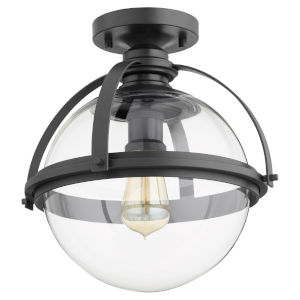 Noir One-Light Semi-Flush Mount