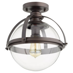 Oil Bronze One-Light Semi-Flush Mount