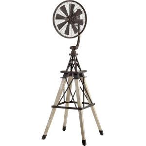 Windmill Oiled Bronze 19-Inch Floor Fan