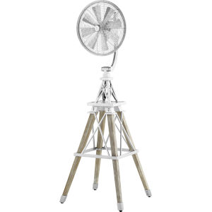 Windmill Galvanized 19-Inch Floor Fan
