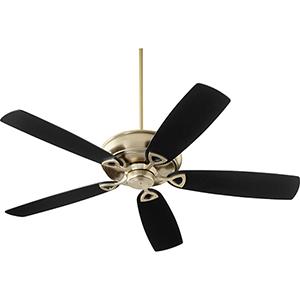 Alto Aged Brass Ceiling Fan