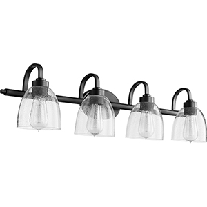 Reyes Black and Clear Four-Light Vanity