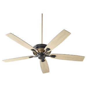 Gamble Noir and Aged Brass 60-Inch Ceiling Fan