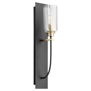 Espy Noir and Aged Brass One-Light Wall Sconce