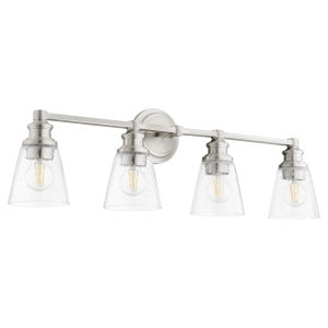 Dunbar Satin Nickel Four-Light Bath Vanity