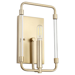 Optic Aged Brass Seven-Inch One-Light Wall Mount