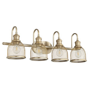 Omni Aged Brass 31-Inch Four-Light Bath Vanity