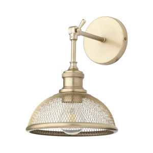Omni Aged Brass Nine-Inch One-Light Wall Mount