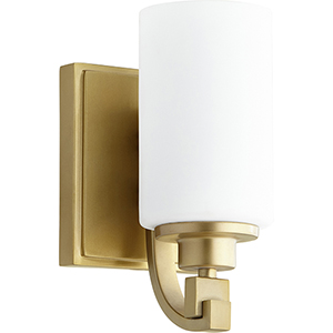 Lancaster Aged Brass One-Light Wall Sconce